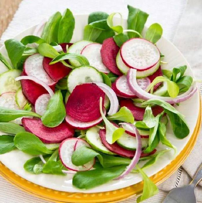 Salade mâche radis